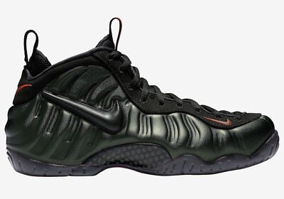 Nike Air Foamposite Pro  Sequoia  624041 304 Black Team Orange Mens Sneaker New