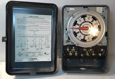TORK W400L 7 DAY TIMER MOTOR DIFFERENT DAILY SCHEDULES 120V UNTESTED