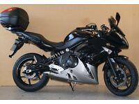 Kawasaki ER6F black/silver, new tyres, rack and givi backbox, heated grips