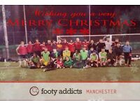 Play football in Manchester. Friendly footy sessions available to join. Everyone welcome!