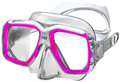 Mask Clear Scuba Dive - Mares Ray Mask ,FreeDive, Scuba, Diving Dive Pink White Clear