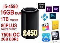 NEW Portable Mac Pro - Hackintosh - 16GB RAM - i5 4590 - 1TB HDD or 128GB SSD- for editing / gaming