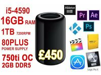 NEW Portable Mac Pro - Hackintosh - 16GB RAM - i5 4590 - 1TB 7200rpm- for editing / gaming