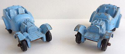 "2 - Vintage Diecast Metal Toy Vehicle by Tootsie Toys 2"" x 1"" x 1"""