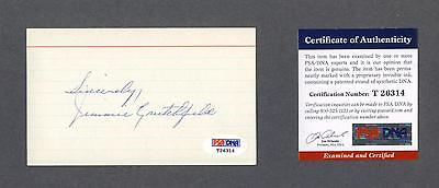 Jimmie Crutchfield Signed Baseball Index Card Psa Authenticated