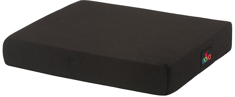 """NOVA Medical Products 3"""" Gel/Foam Wheelchair Cushion Black 3"""