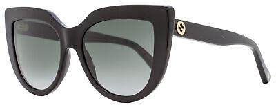 Gucci Cateye Sunglasses GG0164S 001 Black 53mm (Gucci Ladies Sunglasses)
