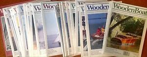 22 Wooden Boat magazines + 3