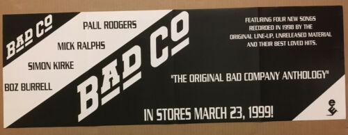 Paul Rodgers BAD COMPANY Rare PROMO POSTER BANNER w/DATE for 1999 CD 36x12 USA