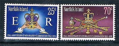 Norfolk Is 1978 25th Anniv.of Coronation SG 207/8 MNH