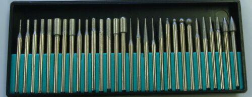 30 Jewelers diamond drill bits stone glass metal rotary tools tips 600 fine grit