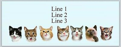 Personalized Address Labels Cuta Cat Kitten Faces Buy 3 Get 1 Free Jx 526