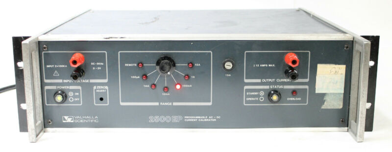 Valhalla Scientific 2500 EP Programmable AC/DC Current Calibrator