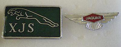 2 x JAGUAR Motoring MOTOR CAR Enamel Lapel Pin Badges