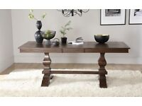Dark Wood Extendable Dining Table - NEW