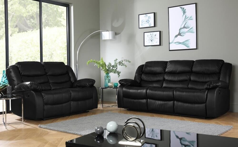 57e58c649f UK EXPRESS DELIVERY 🛑 ROMA 3+ 2 SEATER LEATHER RECLINER SOFA WITH DRINK  HOLDER 🛑 3 YEARS WARRENTY | in Reading, Berkshire | Gumtree