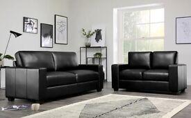 Brand new Leather Black 3+2 set