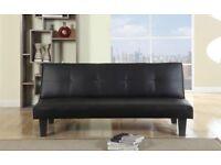 Brand new black leather 3 seat sofa