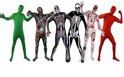 BODY SUIT ZOMBIE SUGAR SKULL ALIEN SKELETT BLUTIGER SKIN SUITS GANZKÖRPERANZUG - Skelett Skin Suit Kostüm
