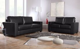 SALE 50% off ITALIAN LEATHER SOFA SET 3+2 black or brown fast delivery