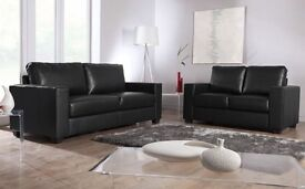 GRAND 50% off 2+3 SOFA SET ITALIAN LEATHER black or brown fast delivery