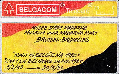 Telecard Belgacom 20 Musée d'art moderne Bruxelles 301H