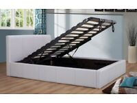 🌈🌈BRAND NEW🌈🌈 SINGLE LEATHER STORAGE BED FRAME WITH SEMI ORTHOPEDIC MATTRESS - BLACK/BROWN
