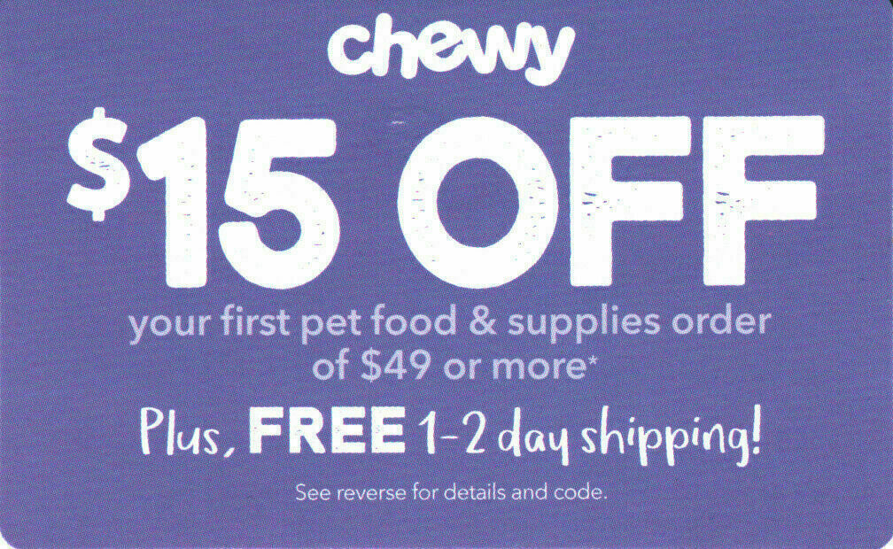 Купить Chewy Coupon - ⚡Instant Delivery⚡ CHEWY.com — $15 OFF $49 Order Promo Code, 1Coupon — Exp. 9/30