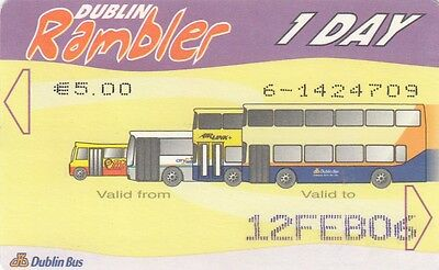(03498) Dublin Rambler 1 Day Travel Card USED 2006 (collectable item only) on Lookza