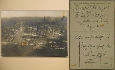 Belgien Barchon Massengrab beschr. 1914 Helden Friedhof Belgium