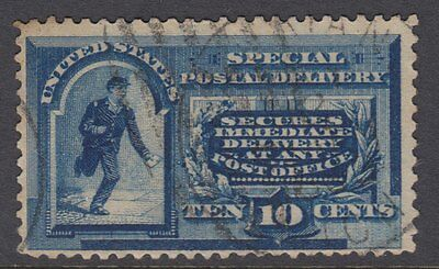 UNITED STATES OF AMERICA : 1888 SPECIAL DELIVERY 10c deep blue  Scott #E2 used