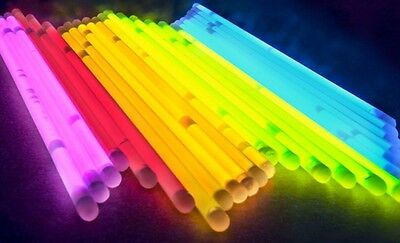 Glow Sticks Bracelets Glows In The Dark 20 Count Multi Color & Connector 8 Inch