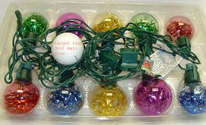 10-Multi-Colored-Globe-Tinsel-Light-Holiday-Christmas-Yard-Outdoor-Decoration