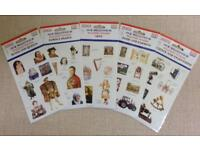 NEW DK 5 Sheets Millennium History Stickers
