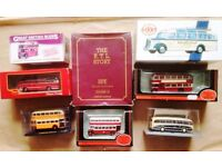 9 x VINTAGE BUS MODELS, ALL LISTED, BOXED & AS NEW. FREE U.K. TRACKED POSTAGE