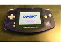 Gameboy advance new backlit version