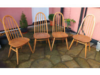 Set of Four Ercol Quaker Dining Chairs