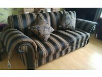 Stunning Handmade to order 3 Seater Sofa Black and Gold