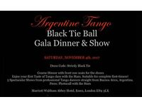 Argentine Tango Black Tie Ball Gala Dinner & Show