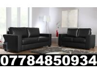 BRAND NEW 3 + 2 SEATER LEATHER SOFAS + DELIVERY 23656