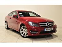 MERCEDES-BENZ C CLASS 2.1 C220 CDI BLUEEFFICIENCY AMG SPORT 2d AUTO 170 (red) 2013