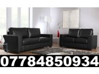 BRAND NEW 3 + 2 SEATER LEATHER SOFAS + DELIVERY 324