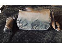 Armani Junior Navy Changing Bag with Bottle Holder