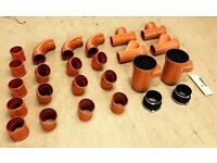 box of brand new 110mm drainage sewer pipe fittings FREE DELIVERY