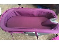 New purple Stokke Xplory carry cot