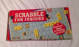 Vintage Scrabble for Juniors 1958 Edition. Complete And Good Condition.