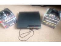 PlayStation 3 with 20 games & 2 controllers.