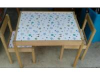 TODDLERS TABLE AND CHAIRS IKEA