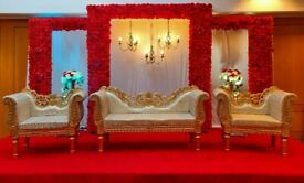 Wedding stages/Mehnedi stages, chair covers, Centrepieces, House Lighting Hire