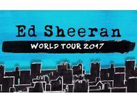 1 STANDING ED SHEERAN TICKET